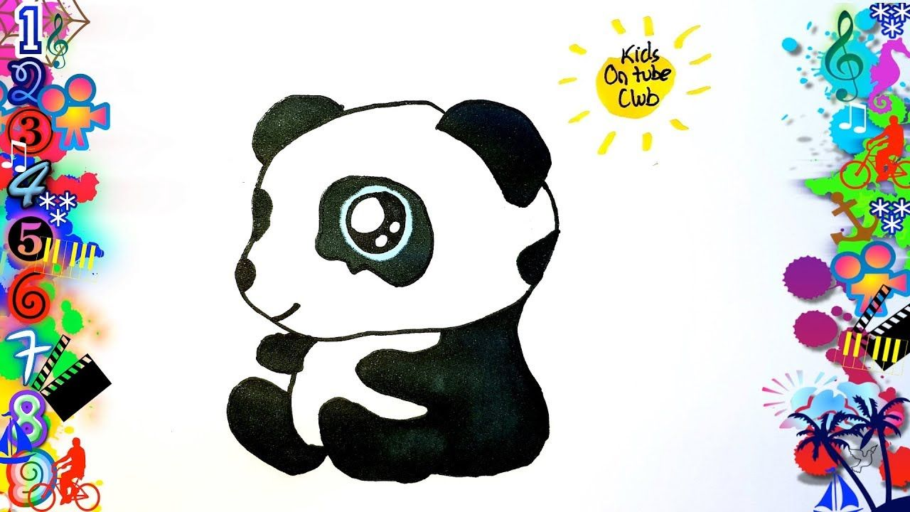 Como Dibujar Oso Panda Kawaii Paso A Paso Facil Para Niños