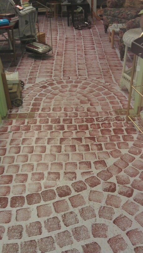 Stencil Concrete Floor   Love This And Would Be Easy To Do.