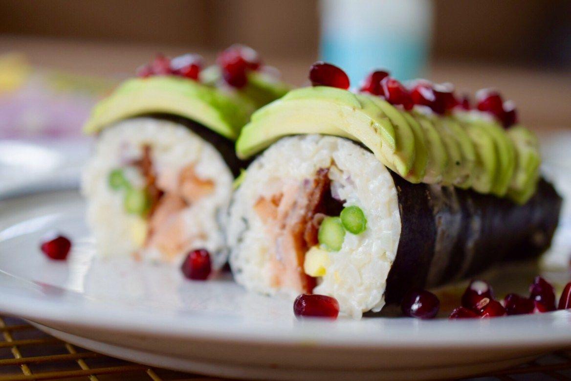paleo ranch smoked salmon wrap Sushi rice, Paleo sushi