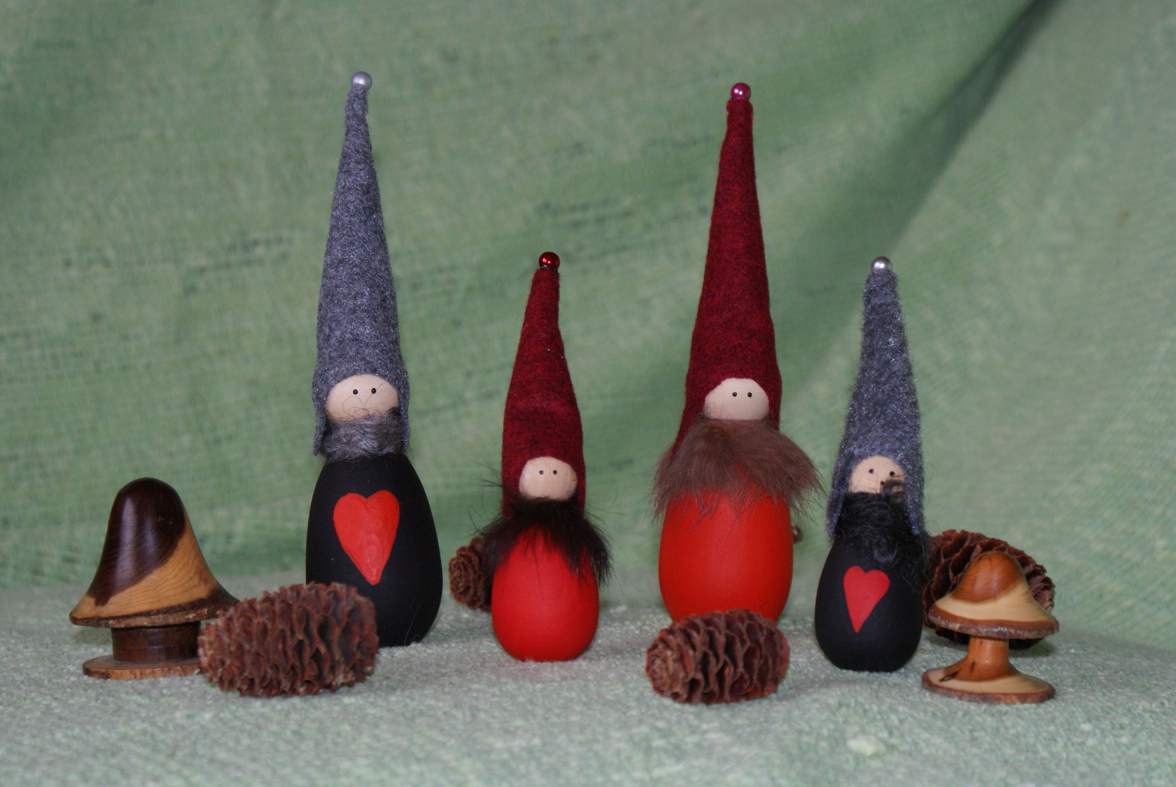 Group Nisse in Red or Black  by  Nordic Charm in the Nisse section. www.nordiccharm.co.uk