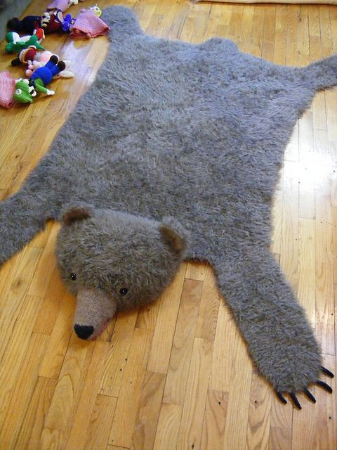 Bear Skin Rug Pattern By Nicky Epstein Knitting Home