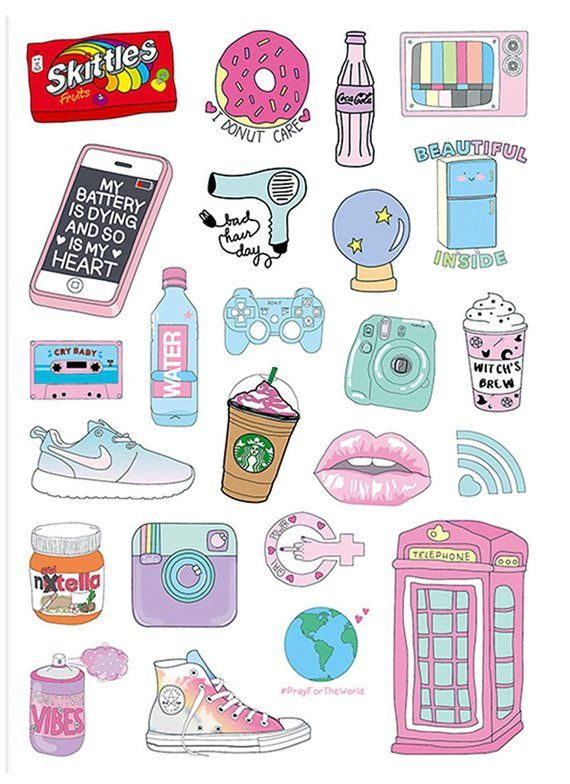 24pcs, Cute Stickers, Laptop Sticker, Suitcase Sticker, Skateboard Stickers, Decorative Sticker, Gift Packaging #funnyphotos