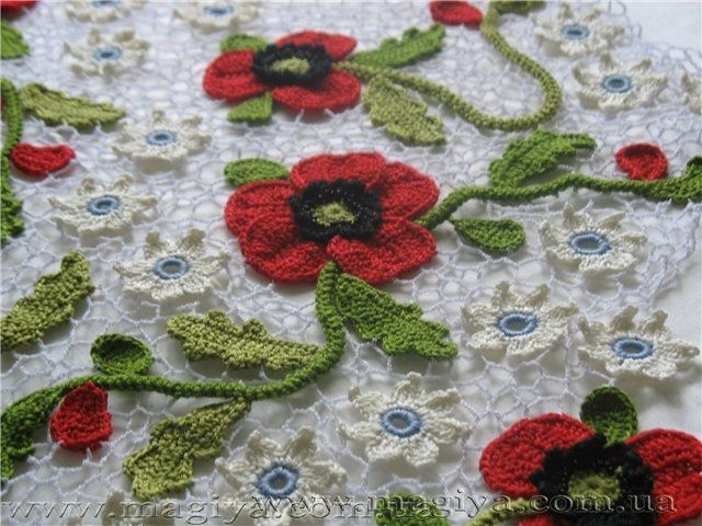 Irish Crochet Poppies | Craft | Pinterest | Crochet irlandés, Encaje ...