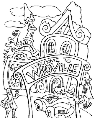 coloring pages dr seuss christmas google search