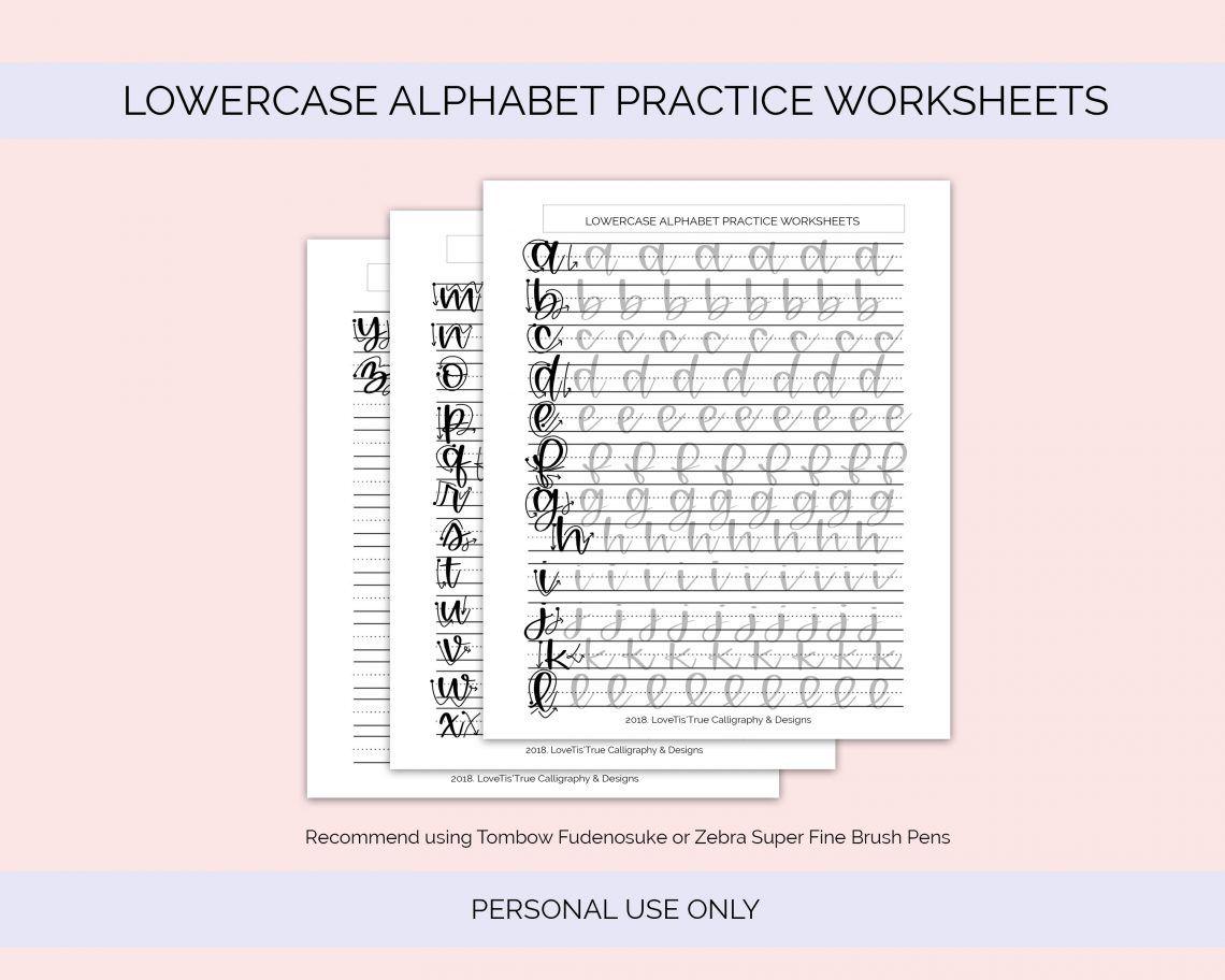 Free Lowercase Alphabet Practice Worksheets