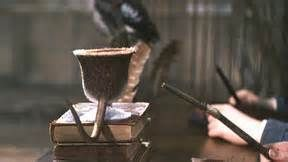 Fera Verto is a spell that transfigures animals into water goblets.If the spell is done inccorectly or with a faulty wand, it results in the animal only being partially transfigured, as shown by Ronald Weasley in 1992.
