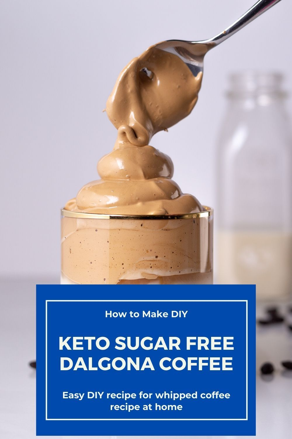 How to Make Keto Sugar Free Dalgona Coffee Recipe in 2020