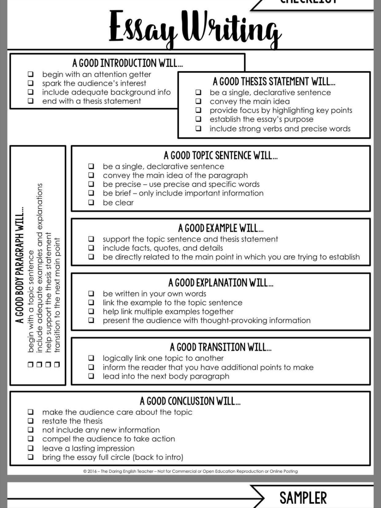 declarative essay information