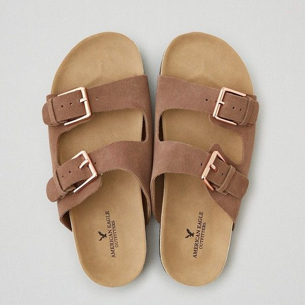 AEO Double Buckle Sandals ($35) ❤ liked on Polyvore