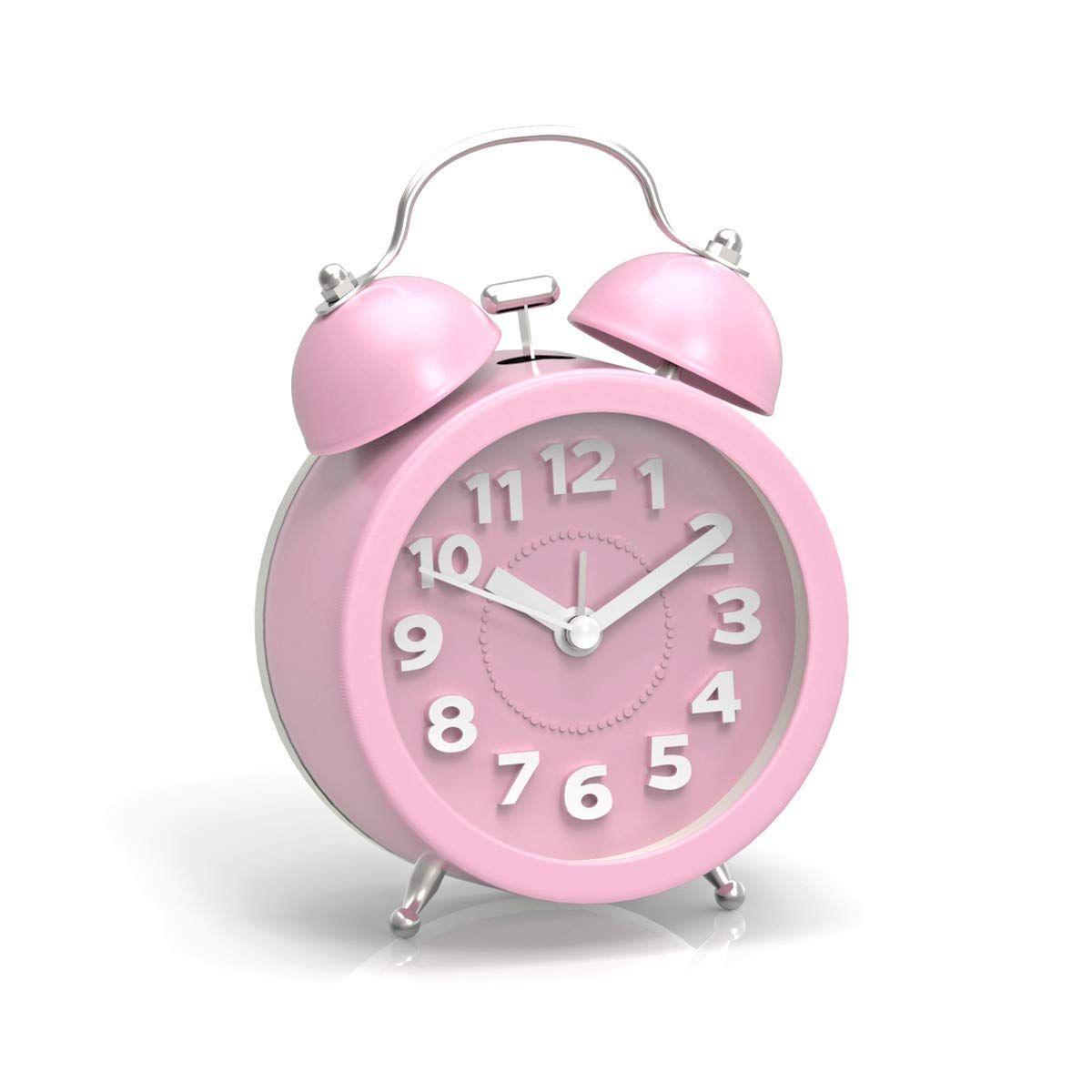 In Pink Analog Alarm Clock Alarm Clock Clock For Kids