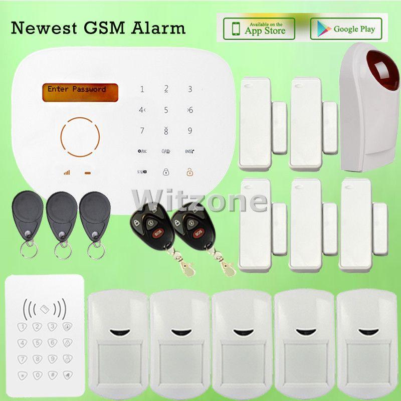 Customerized Diy Wireless Wired Gsm Home Alarm System S2g With Rfid Doorbell Keypad Pir Detector And Smart Home Alarm System Alarm Systems For Home App Remote