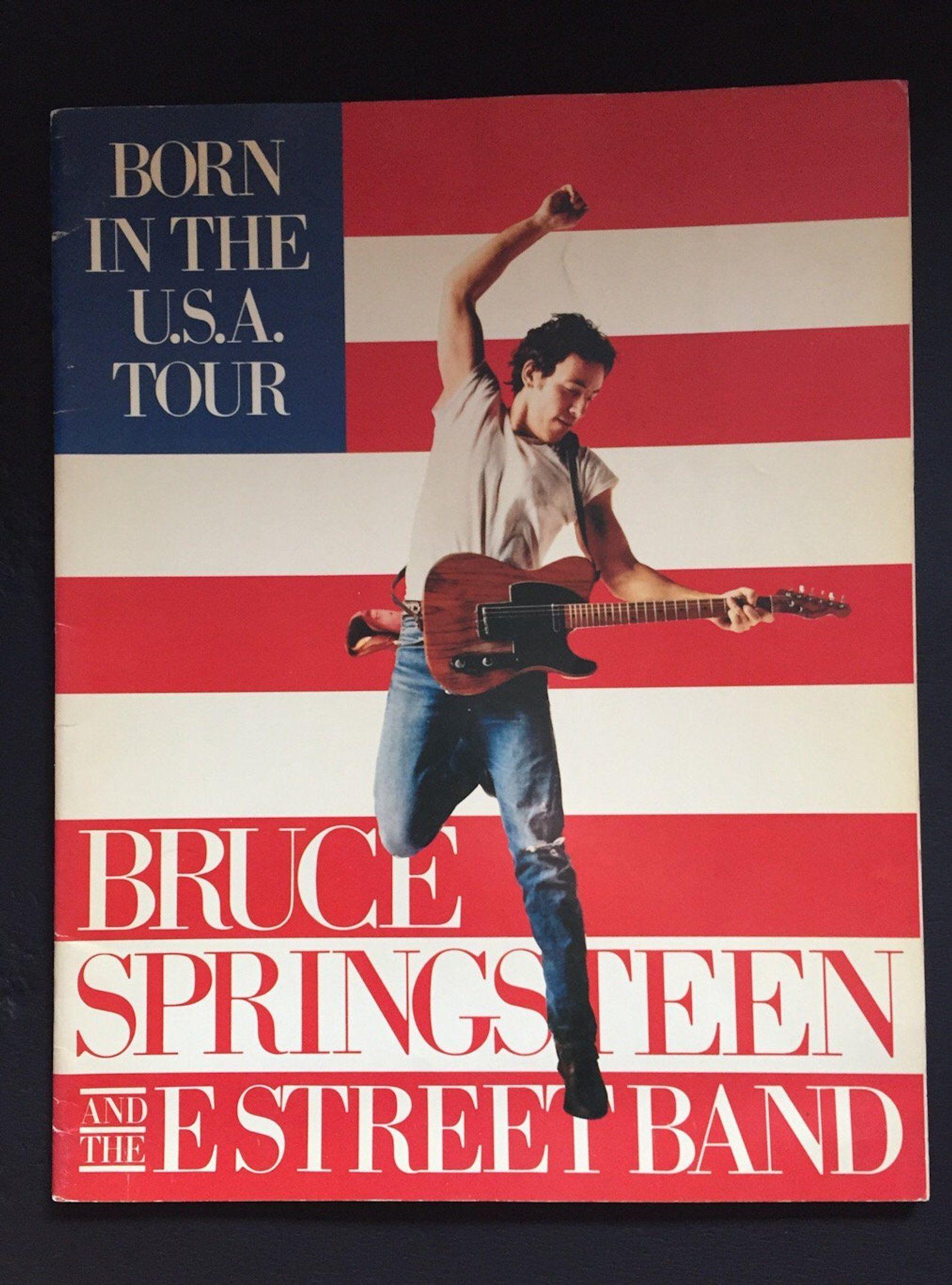 Tour Program Bruce Springsteen From 1984 Born In The U S A Etsy Bruce Springsteen Usa Tours Bruce