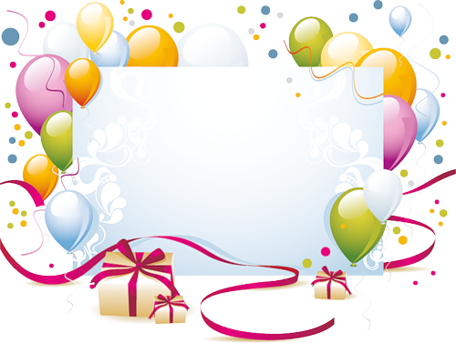 Cadre Anniversaire cadre vide | frames & borders | cadres, anniversaire, carte anniversaire