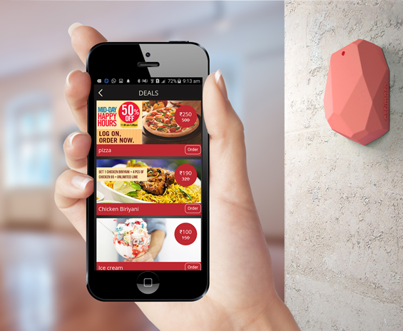 Beacon technology for restaurants Quick Food APP , The