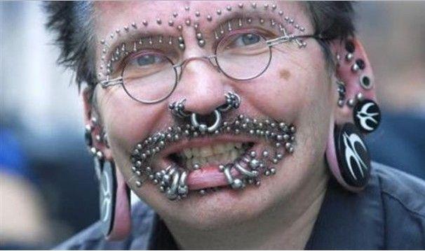 Extreme Facial Piercings