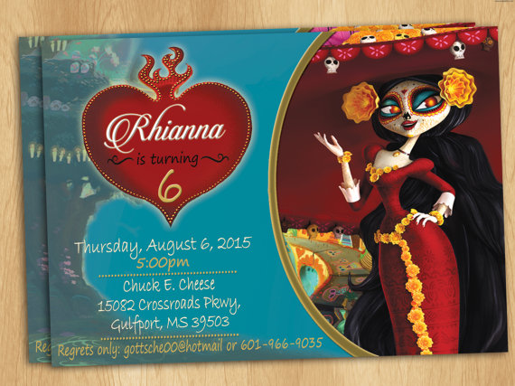 The Book Of Life Invitations Book Of Life 3rd Birthday Parties Invitations