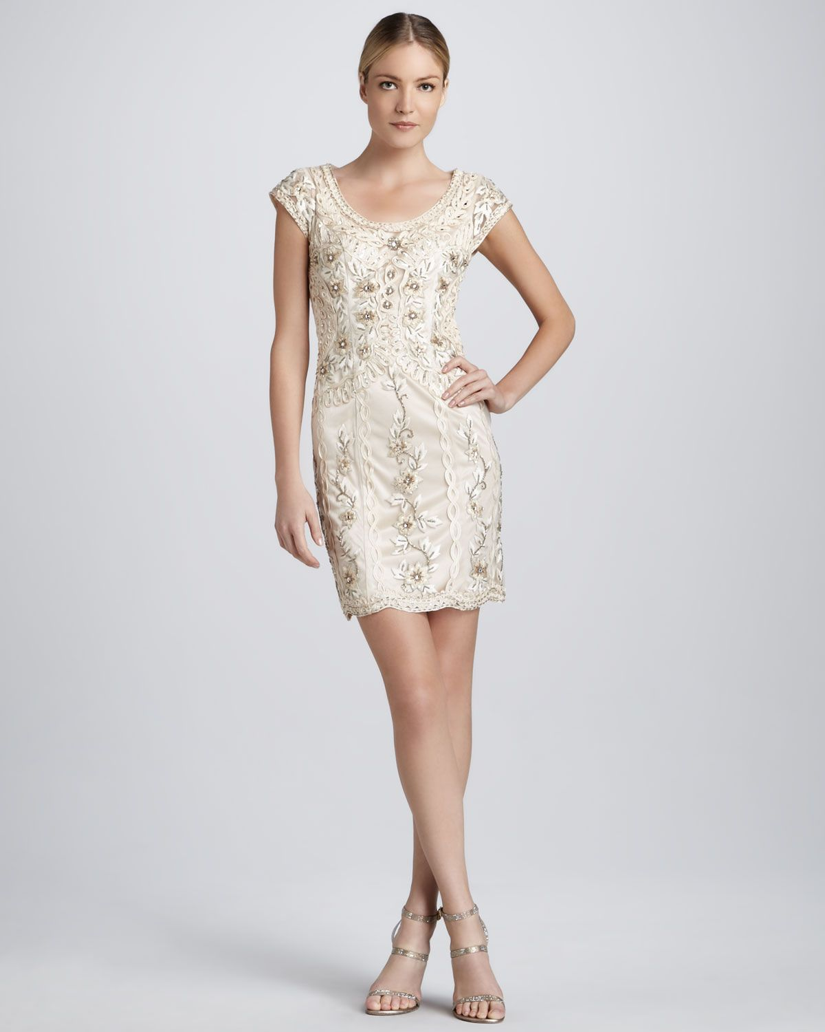Sue Wong Beaded Cocktail Dress