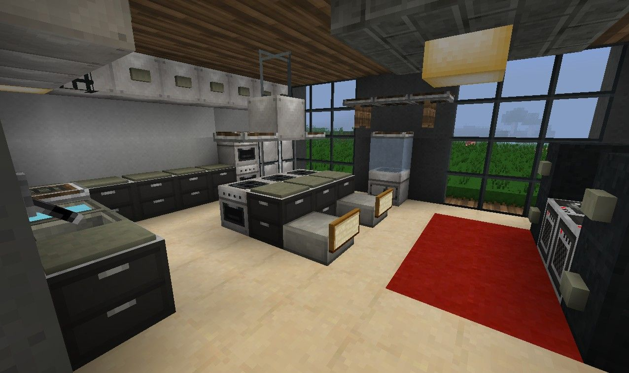 minecraft interior design kitchen minecraft modern kitchen mine craft 7507