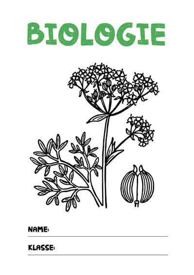 Dieses Biologie Deckblatt Und Weitere Kostenlose Deckblätter Im Pdf