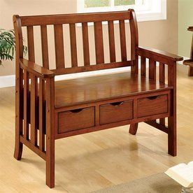 Peachy Pine Crest Oak Indoor Entryway Bench With Storage Mud Ocoug Best Dining Table And Chair Ideas Images Ocougorg