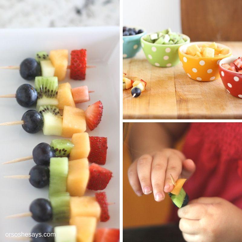 Mini Fruit Kabobs - Great Use of Summer Produce! (she: Liz)