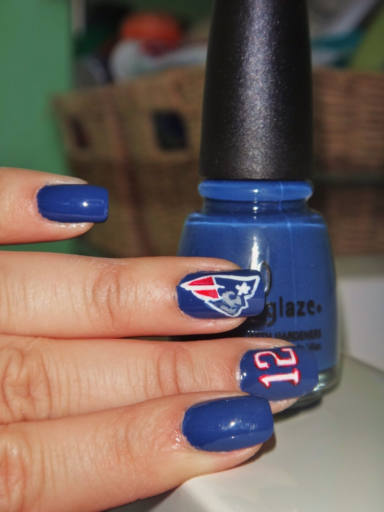 I\'m all ready for Superbowl 2012! Representing the New England ...