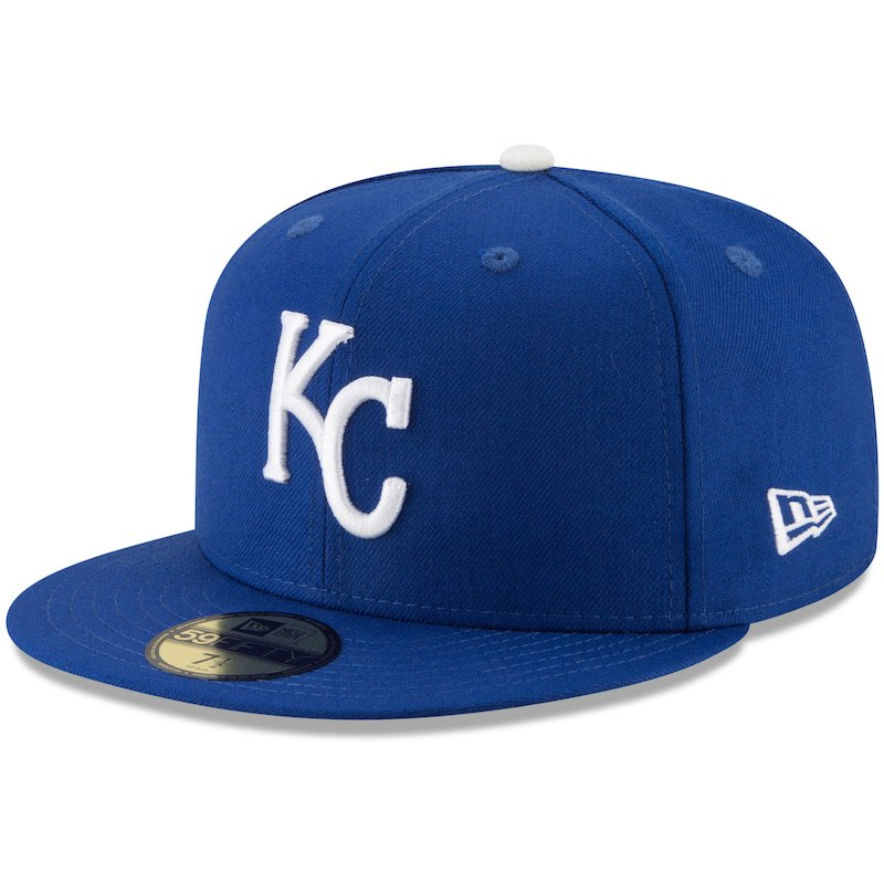 outlet store a741e ed3c8 Kansas City Royals New Era Cooperstown Collection 1985 World Series Side  Patch 59FIFTY Fitted Hat - Royal