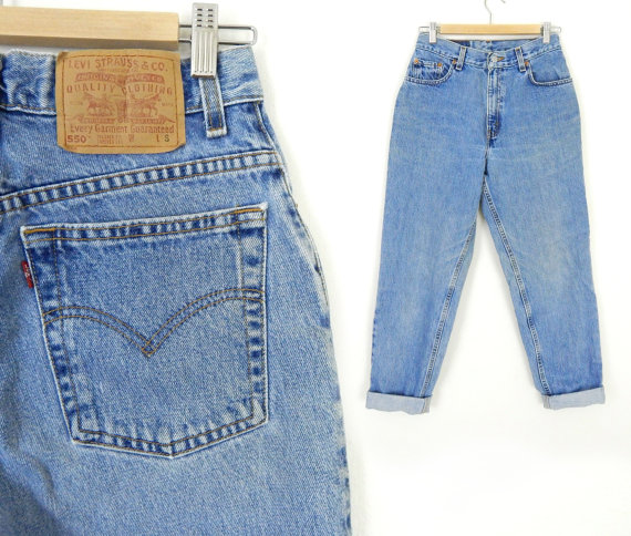 05225a6ebb7 Vintage 90s Levis 550 Women's High Waisted Jeans - 8 SHORT - $40.00 **Save  10% on any purchase at SadieBess with coupon code PIN10**