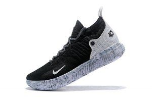 2395115b5392 Men s Nike Zoom KD 11 EP Black White boys Basketball Shoes