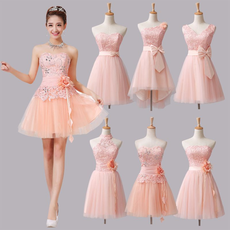 strapless prom dresses mint green short bridesmaid dresses 2015 ...