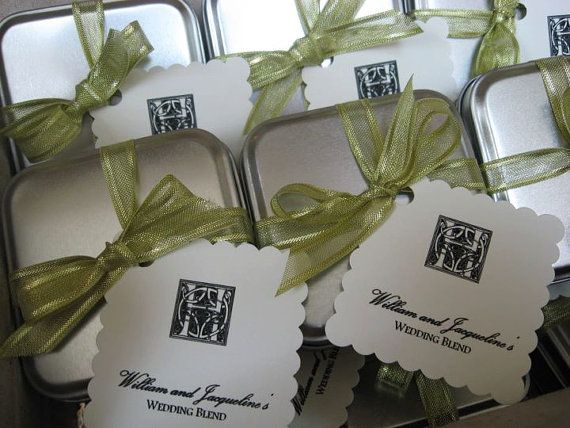 Wedding Favors Tea Tins Custom Blend For By Teaforallreasons