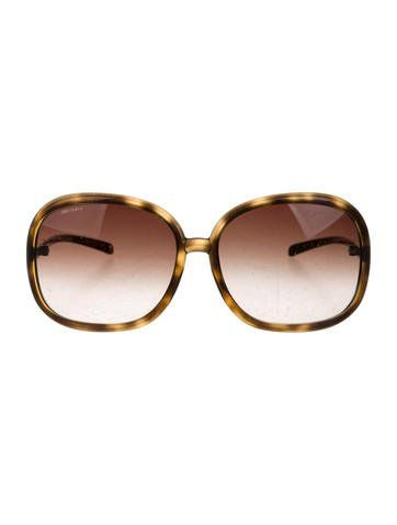 5007544776d9a Brown tortoiseshell Burberry sunglasses with gradient lenses. Includes case.