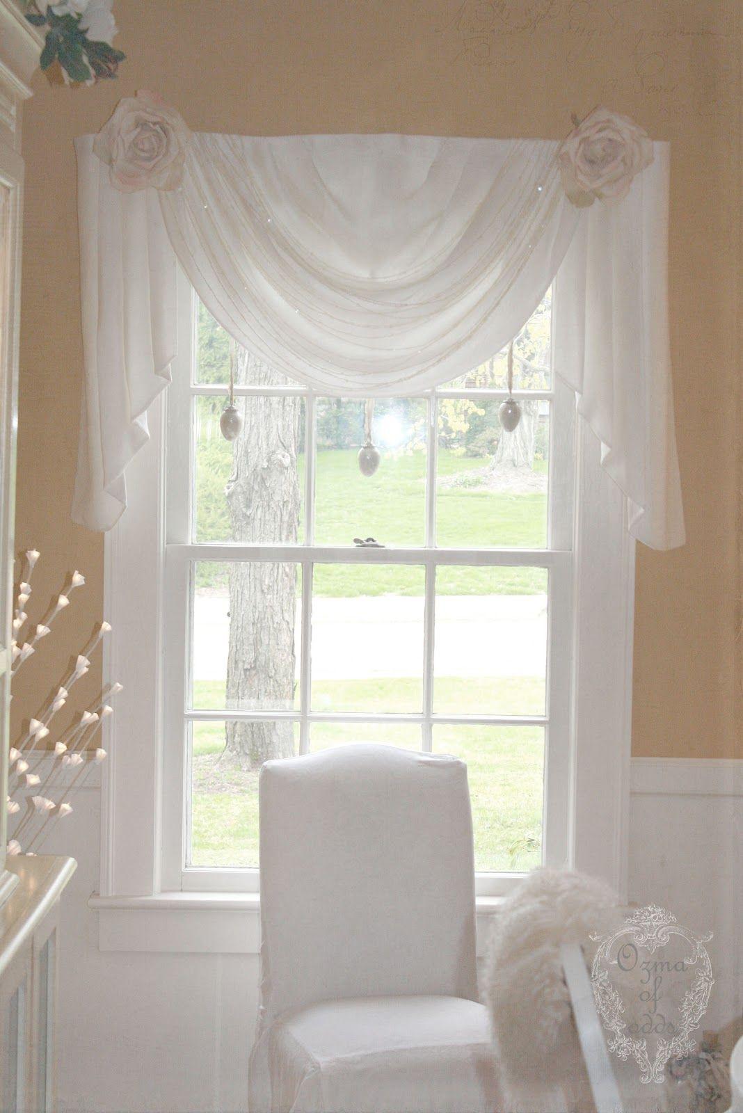 Shabby dream....love this window treatment. | Cortinas | Pinterest ...