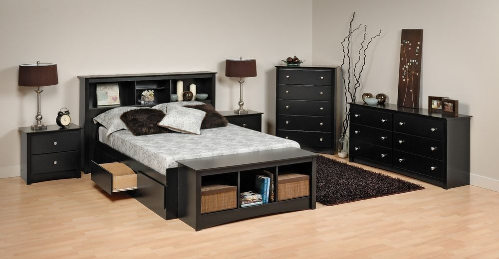 Details About Prepac Sonoma Platform Storage Bed Dresser Chest