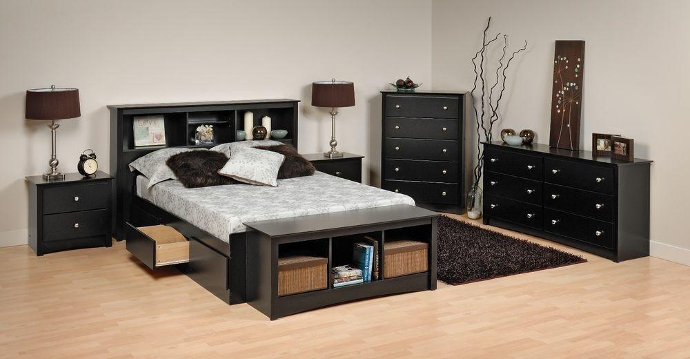 Details About Prepac Sonoma Platform Storage Bed Dresser Chest