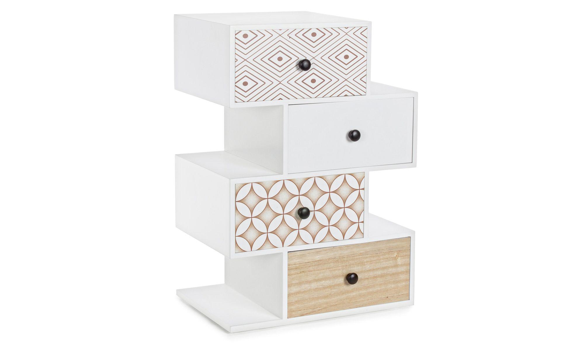 Mueble auxiliar 4 cajones realizada la estructura de DM, patas de ...