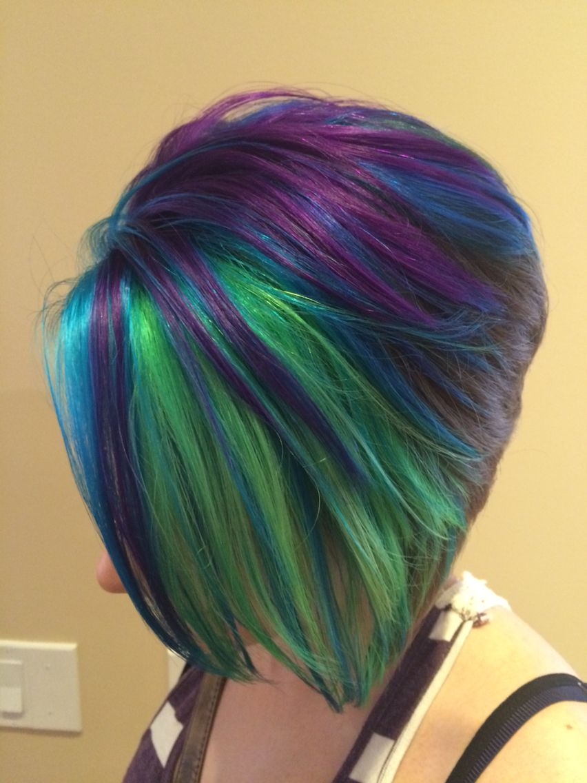 peacock hair goldwell elumen