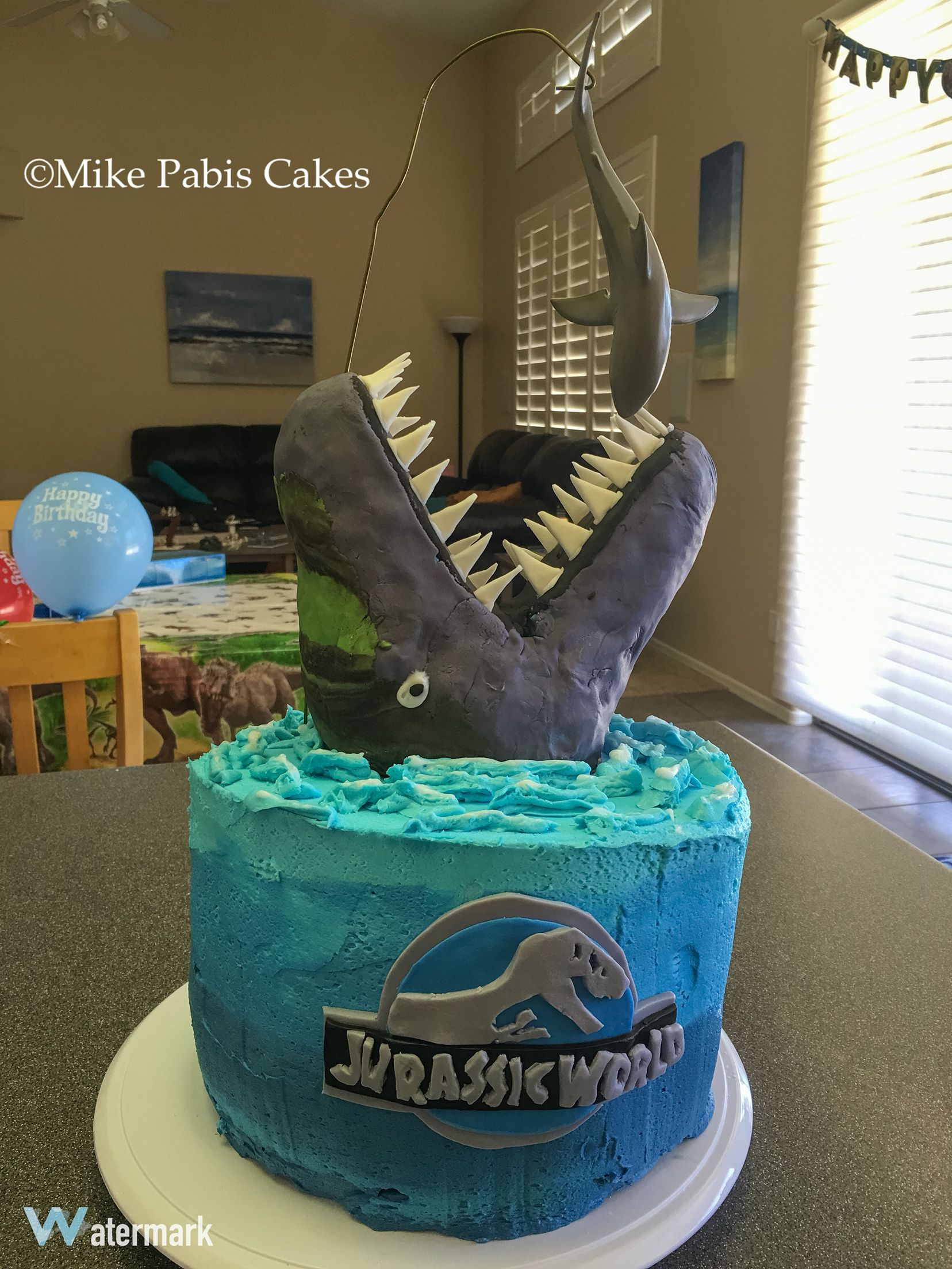 Jurassic World Mosasaur Cake Featuring The Dinosaur