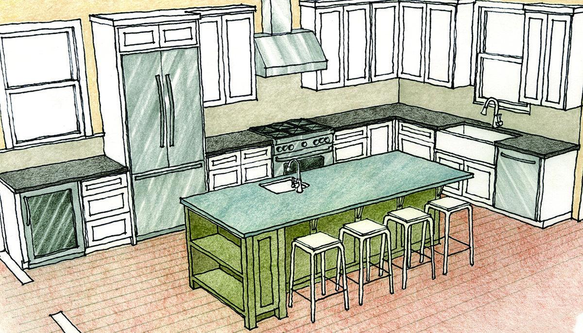 Multipurpose Kitchen Islands - Fine Homebuilding | Construction ...