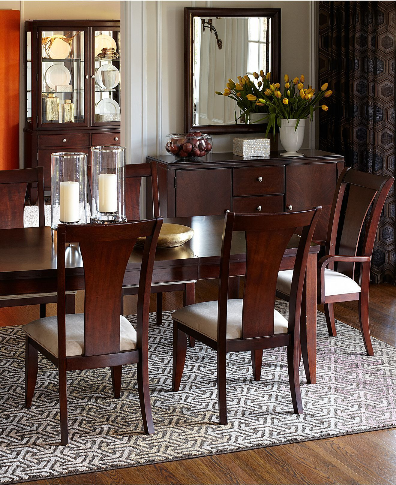 Metropolitan Contemporary Dining Room Furniture Collection ...