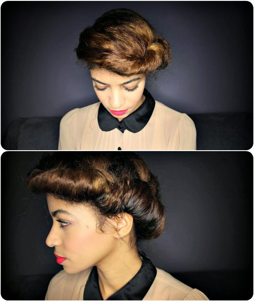 Vintage style updo for natural hair curly nikki natural hair