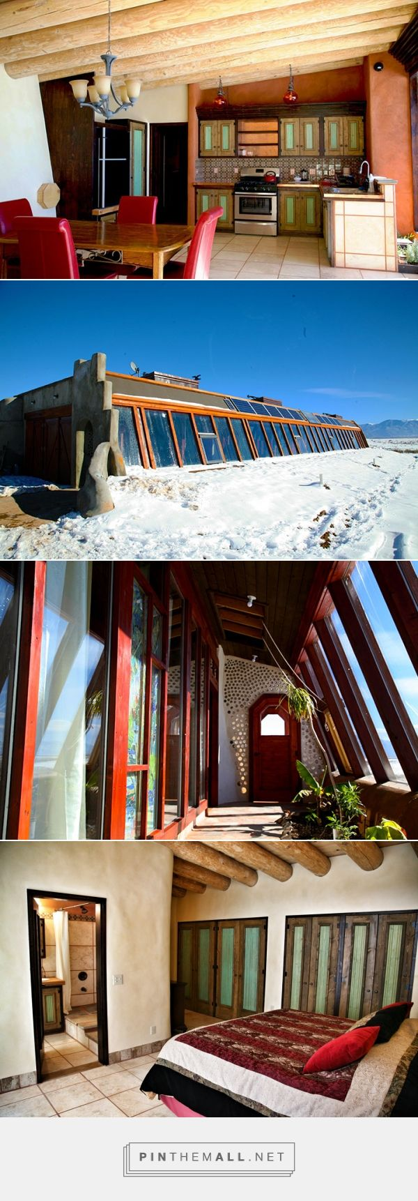 Earthships can be modern. This Waybee Earthship is