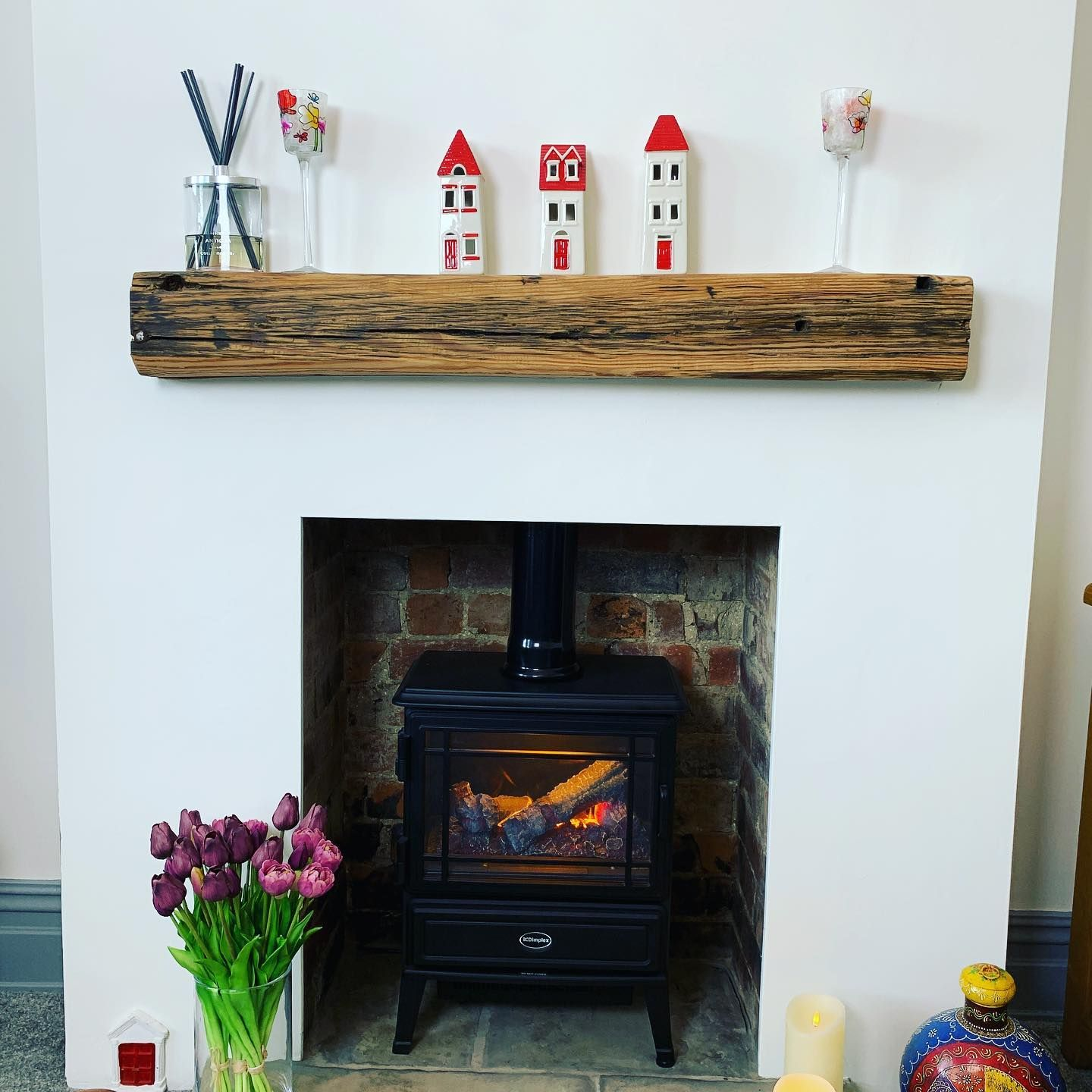 Our Take on the Old Rustic Fireplace Reclaimed Oak Beam