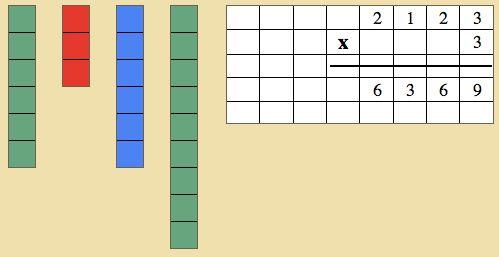 Montessori - Mathematics - Decimal System - Stamp game
