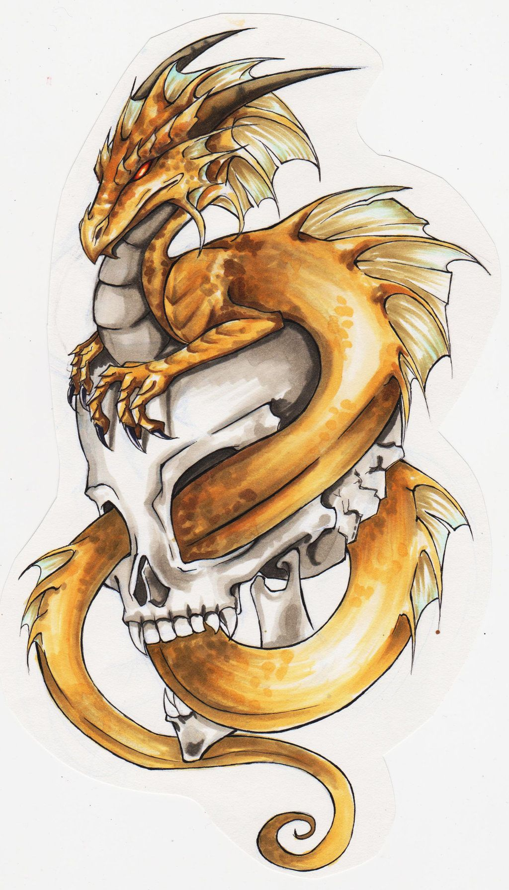 Dragon Skull Dragon Tattoo Designs Dragon Sleeve Tattoos Skull Tattoo Design