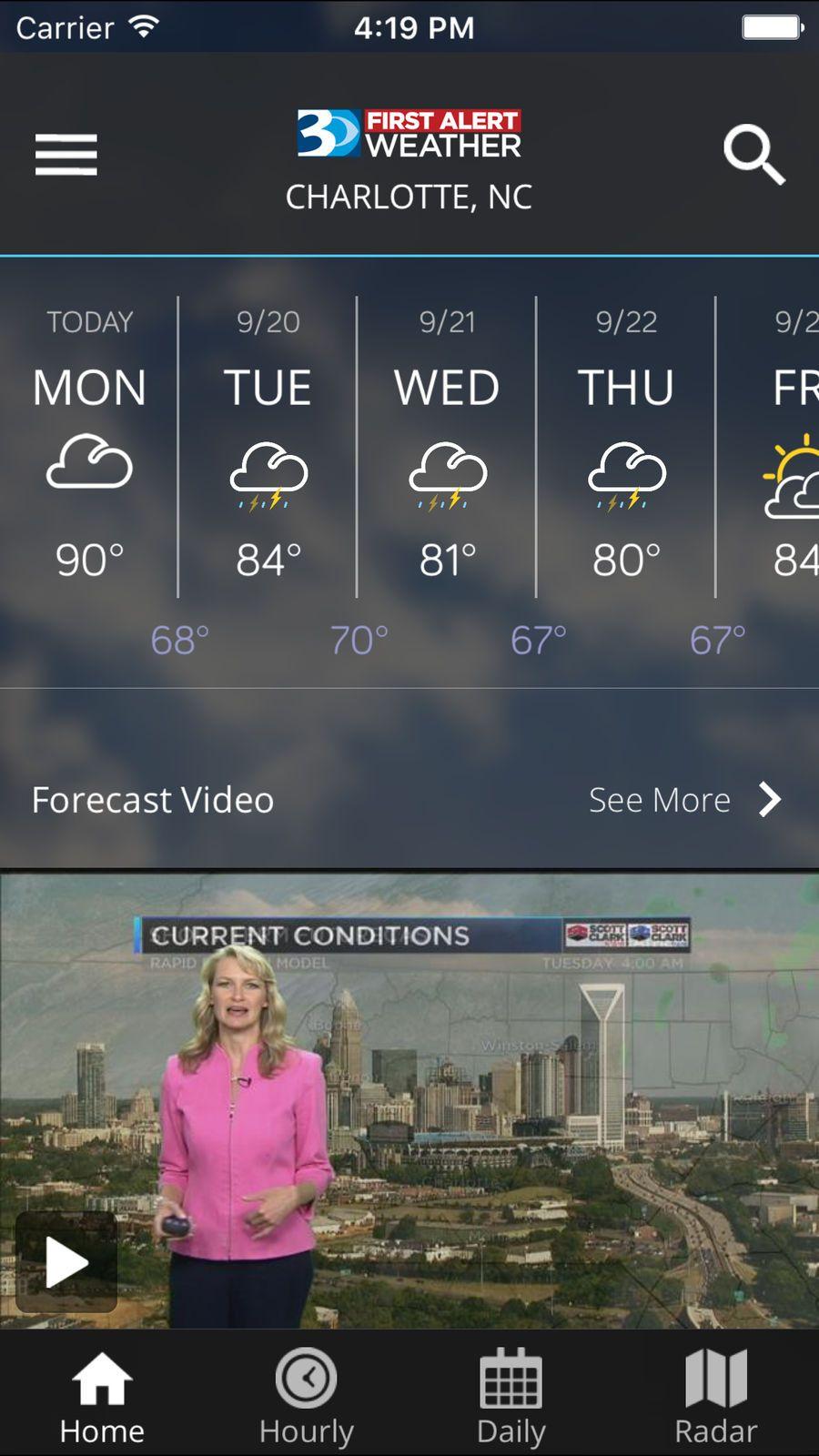 Wbtv first alert weather iosnewsappapps game design