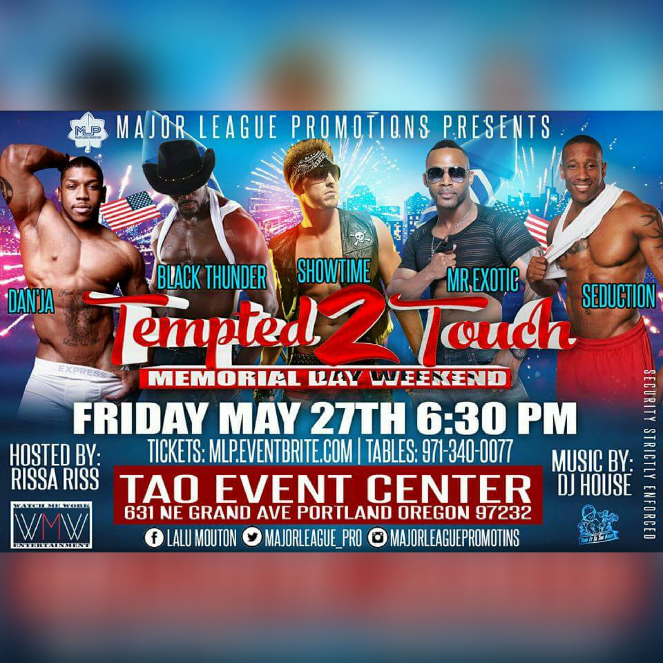 Ladies Tempted 2 Touch May 27th Ladies Tempted 2 Touch Tickets On