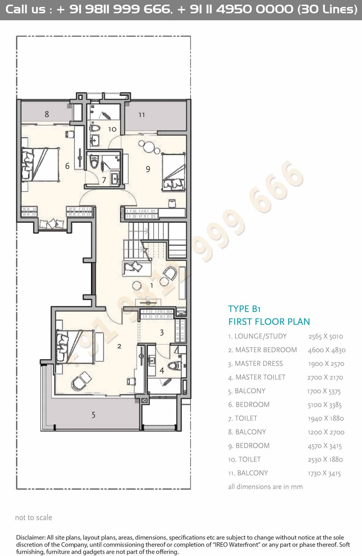 Type B1 First Floor Plan House Construction Plan Floor Plans Courtyard House Plans