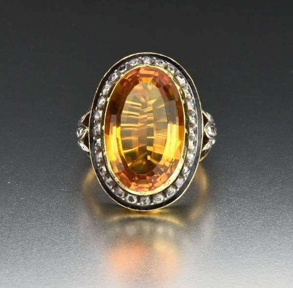 Art deco Vintage black Crystal Marcasite ring Rose Flower Cocktail Rings GL