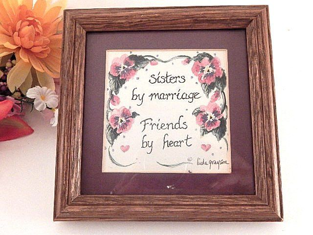Sisters By Marriage Friends Heart Wall Hanging Linda Grayson Rhpinterest: Home Decor Sister At Home Improvement Advice